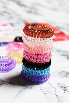Have you tried GummiBands? They are hair cords for ponytails that don't break or damage your hair. GummiBands are super fun and my favourite new hair accessory! Half Up Curly Hair, Curly Hair Styles, Natural Hair Styles, Medium Length Hair With Bangs, Medium Long Hair, Curl Styles, Festival Hair, Clean Nails, Hair Tools