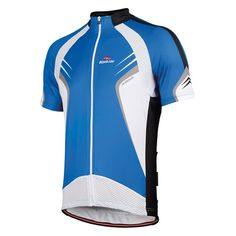 Short - sleeved cycling jersey Khrono in blue, by Bicycle Line Italy
