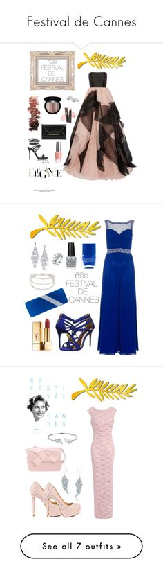 """Festival de Cannes"" by emiliefrenchgirl ❤ liked on Polyvore featuring Reem Acra, Glitzy Rocks, Giuseppe Zanotti, L.A. Girl, Edward Bess, OPI, festival, cannes, festivaldecannes and cinema"