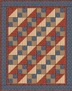 cute americana quilt, free pattern.  This would make a great Quilt of Valor.