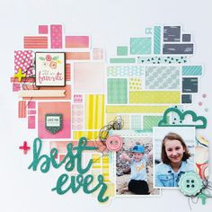 Best Ever layout by Amanda Baldwin featuring Pink Paislee Fancy Free collection for @paperissues February #pinspireme challenge
