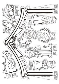 Nativity CP or cut outs Preschool Christmas, Christmas Nativity, Christmas Crafts For Kids, Christmas Activities, A Christmas Story, Xmas Crafts, Christmas Colors, Christmas Holidays, Nativity Coloring Pages