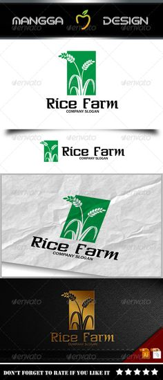 Rice - Logo Design Template Vector #logotype Download it here: http://graphicriver.net/item/rice-logo/8231691?s_rank=814?ref=nexion