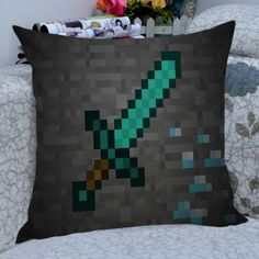 Diamond sword minecraft pillow case,one from pillowsophz on