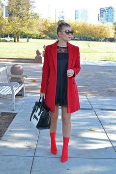 How to Wear Red Ankl