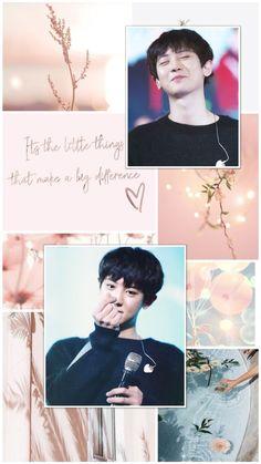Aesthetic Backgrounds, Aesthetic Wallpapers, Exo Album, Exo Lockscreen, Park Chanyeol Exo, Bts And Exo, Kpop, Chanbaek, Pink Aesthetic