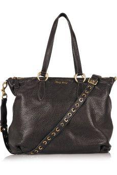 773608899b9 Miu Miu Paloma Leather Messenger Bag   Purses   Bags, Miu miu, Miu miu purse