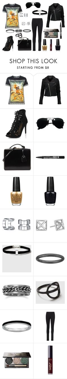 """""""Fausto Puglisi: Captain America"""" by thoughts-of-a-dreamer ❤ liked on Polyvore featuring FAUSTO PUGLISI, D-ID, Ray-Ban, Mark Cross, Bourjois, OPI, Bling Jewelry, Rebecca Minkoff, Topshop and Stacks and Stones"""