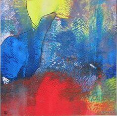 """Els Driesen, """"ijsbeer bij volle maan"""" (132) Mit einem Klick auf 'Als Kunstkarte versenden' versenden Sie kostenlos dieses Werk Ihren Freunden und Bekannten."""