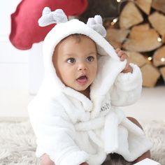 Personalised Hooded Reindeer Robe
