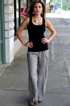 Linen Pants {Grey} | Elle