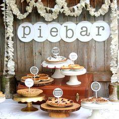 Pie Bar Wedding, Wedding Desserts, Wedding Catering, Wedding Ideas, Dessert Bar Wedding, Cheap Wedding Food, Diy Wedding Reception Food, Food Truck Wedding, Fall Wedding Foods