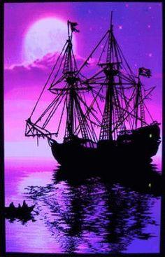 (23x35) Moonlit Pirate Ghost Ship Blacklight Poster Art Print by Poster Revolution, http://www.amazon.com/dp/B002965HZG/ref=cm_sw_r_pi_dp_4emFqb1S0FCN0
