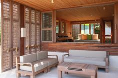 Our duplex villas provide an elevated view of the beach and an outdoor lounge patio.
