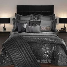 bedding=never too much glitter! So pretty and dramatic! Love it!