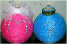 Initial Yarn Ornament (with tutorial)
