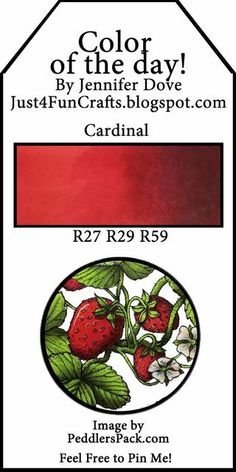 Copic Color of the Day 80 Cardinal and DoveArt Studios