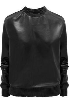 Givenchy|Black soft nappa sweatshirt|NET-A-PORTER.COM on Wanelo