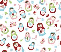 Spoonflower My Matryoshka Fabric (starting at $18 per yard): Have a boatload of Matryoshka ideas, but don't know where to begin? Spoonflower's My Matryoshka pattern can be printed on nine different kinds of fabric to suit your crafting needs.