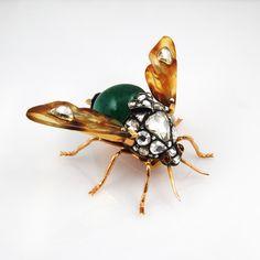 Antique 18KT Diamond Bug