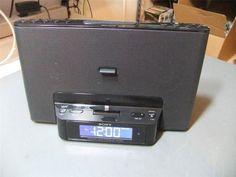 Sony ICFCS15IPBLKN Audio Dock for iPod iPhone 5 w/ AM/FM radio and alarm #Sony
