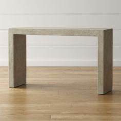 Concrete shows its sophisticated side in a classic Parsons-style table.  Minimalist design puts the focus on Mason's cool grey color and clean, unadorned surface, diamond-polished sleek and smooth.  Polished concrete over steel rebar frameLegs rest on steel plates with protective stainless-steel glidesProtect from heat and liquidsDust with soft, dry clothMade in The Philippines.
