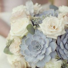 Fresh off our instagram feed: Dust blue. Such a #gorgeous  and #unexpected #weddingbouquet  #weddinginspiration #wedding #dreamwedding #loveweddingbouquet,unexpected,love,weddinginspiration,gorgeous,wedding,dreamwedding follow us on instagram @my-best-friends-wedding  See more unique wedding photos & ideas + shop the looks at: www.my-best-friends-wedding.com