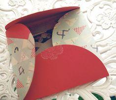 Caja decorada con scrapbooking