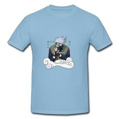Naruto Sky Blue Adult Standard Weight T-shirt For Men Shop-Art & design Clothing shop from HICustom.net .24 hour service available.