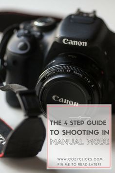 how to shootin in manual mode. Easy to understand instructions