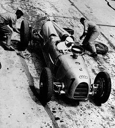 Tazio Nuvolari in an Auto Union