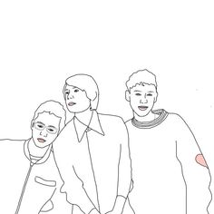 crappy years and years line drawing I made ((minus mikeys beard))