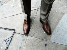 A Strong Oxford Shoe; For a Strong London Man. - Shoreditch Street Style.