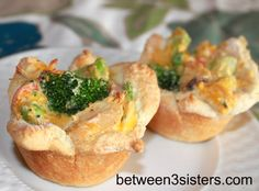 Cheesy Chicken Pot Pie Cups | Between 3 SistersBetween 3 Sisters