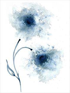 Blue Flower Wallpaper, Flower Artwork, Abstract Flowers, Abstract Watercolor, Watercolor Flowers, Painting Abstract, Painting Flowers, Watercolour Painting, Drawing Flowers