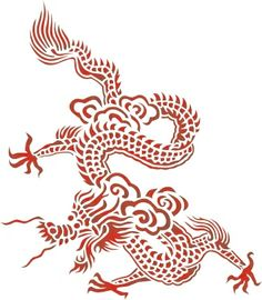 Chinese Dragon Stencil