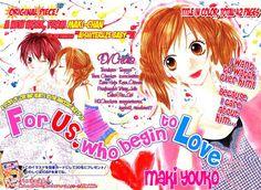 """Mangá: Koi o hajimeru Bokutachi ni (One-shot) - Gosto muito do traço e dos personagens (que são cheios de atitudes e não aqueles songa mongas que apanham pra caramba antes de raagir^^) da Maki Yoko, em """"Koi o hajimeru Bokutachi ni"""" temos bonitas senas e personagens complexos demais para apenas 42 páginas de história. #shoujo #love #YoukoMaki #MakiYouko #Oneshot"""