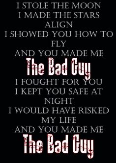Bad Guy by Set it Off. Fits Clancy Gray from the Darkest Minds book series and Luke Castellan from Percy Jackson :)