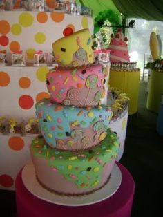 Candy Theme: Topsy Turvy Candy Cake