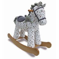 How sweet -  a traditional rocking horse for Christmas! Little Bird Told Me Dylan and Boo Rocking Horse @ Kiddicare.com