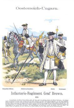 Band XIV #22.- Österreich-Ungarn. Infanterie-Regiment Graf Brown. 1717.