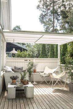 20 Cozy Backyard Deck Ideas For Your Relaxing - Backyard Decoration Pergola Designs, Patio Design, Porch Designs, Outdoor Spaces, Outdoor Living, Outdoor Decor, Cozy Backyard, Backyard Ideas, Patio Ideas