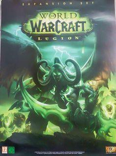 """Original World of Warcraft Legion 31x23"""" poster #Blizzard #Videogame"""