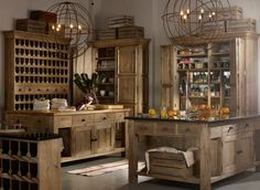 ROOMS | Timothy Oulton.....Love the openness of this kitchen and all the beautiful pieces, especially the island and housekeeper's cupboard.