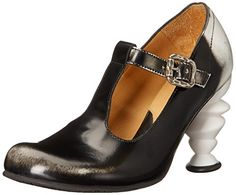John Fluevog Women's Kyanite Dress Pump, Black/White, 7 M US * Continue to the product at the image link.