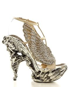winged shoes / Alexander McQueen --- I'm pinning this here because this would go great on someone with tattoos.