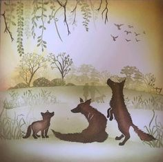Cardio Cards, Card Io, Marianne Design, Moose Art, Tapestry, Silhouette, Stamps, Fox, Animals