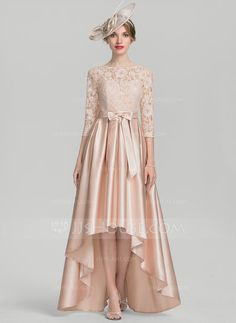 91fe371e987be Forme Princesse Col rond Asymétrique Satiné Dentelle Robe de mère de la  mariée avec À ruban(s) (008131950)