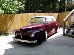 47 Mercury Custom Convertible, made from rusty pile of parts...