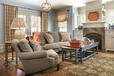 Colorful Traditional Home - Traditional - Living Room - New York - Kingsley Belcher Knauss, ASID